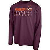 Nike Youth Virginia Tech Hokies Maroon Legend Long Sleeve Performance T-Shirt