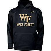 Nike Youth Wake Forest Demon Deacons Therma Pullover Black Hoodie
