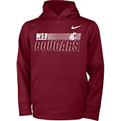 Nike Youth Washington State Cougars Crimson Therma Pullover Hoodie