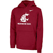 Nike Youth Washington State Cougars Crimson Club Fleece Pullover Hoodie