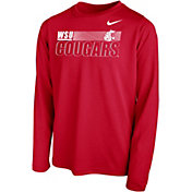 Nike Youth Washington State Cougars Crimson Legend Long Sleeve Performance T-Shirt