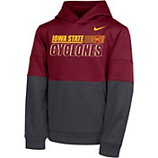 Nike Youth Iowa State Cyclones Therma Color Block Pullover Black Hoodie