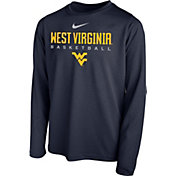 Nike Youth West Virginia Mountaineers Blue Hook Dri-FIT Legend Long Sleeve Basketball T-Shirt