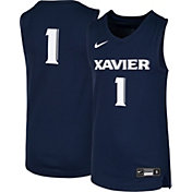 Nike Youth Xavier Musketeers #1 Blue Replica Basketball Jersey