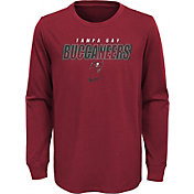 NFL Team Apparel Youth Tampa Bay Buccaneers Red Cotton Long Sleeve T-Shirt
