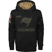 Nike Youth Salute to Service Tampa Bay Buccaneers Black Therma-FIT Pullover Hoodie