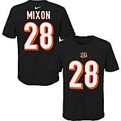 NFL Team Apparel Youth Cincinnati Bengals Joe Mixon #85 Black Player T-Shirt