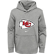 Nike Youth Kansas City Chiefs Black Therma Pullover Hoodie