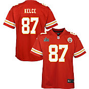 Nike Youth Super Bowl LIV Patch Kansas City Chiefs Travis Kelce #87 Home Game Jersey