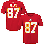 NFL Team Apparel Youth Kansas City Chiefs Travis Kelce #85 Red Player T-Shirt