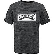NFL Team Apparel Youth Philadelphia Eagles Black Legend Victory T-Shirt