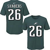 NFL Team Apparel Youth Philadelphia Eagles Miles Sanders #85 Green Player T-Shirt