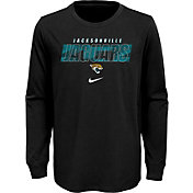 NFL Team Apparel Youth Jacksonville Jaguars Black Cotton Long Sleeve T-Shirt