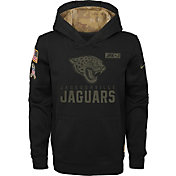Nike Youth Salute to Service Jacksonville Jaguars Black Therma-FIT Pullover Hoodie