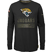 Nike Youth Salute to Service Jacksonville Jaguars Black Long Sleeve Shirt