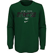 NFL Team Apparel Youth New York Jets Sport Green Cotton Long Sleeve T-Shirt