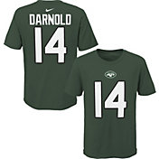 NFL Team Apparel Youth New York Jets Sam Darnold #85 Green Player T-Shirt