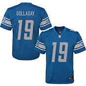 NFL Team Apparel Youth Replica Detroit Lions Kenny Golladay #19 Blue Jersey