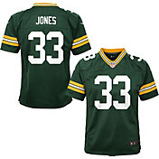 NFL Team Apparel Youth Replica Green Bay Packers Aaron Jones #33 Green Jersey