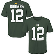 NFL Team Apparel Youth Green Bay Packers Aaron Rodgers #85 Green Player T-Shirt