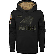 Nike Youth Salute to Service Carolina Panthers Black Therma-FIT Pullover Hoodie