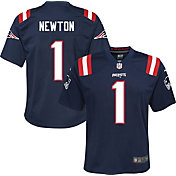 Nike Youth New England Patriots Cam Newton #1 Navy Game Jersey