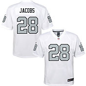 NFL Team Apparel Youth Replica Las Vegas Raiders Josh Jacobs #28 White Jersey