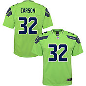 Nike Youth Seattle Seahawks Chris Carson #32 Turbo Green Game Jersey