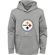 Nike Youth Pittsburgh Steelers Black Therma Pullover Hoodie