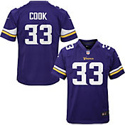 NFL Team Apparel Youth Replica Minnesota Vikings Dalvin Cook #33 Purple Jersey