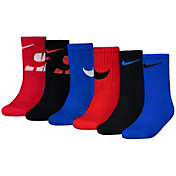 Nike Youth Swoosh Impression Crew Socks 6 Pack