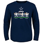 NFL Team Apparel Boys' Dallas Cowboys Pass And Catch Navy T-Shirt