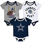 NFL Team Apparel Infant Dallas Cowboys Champion 3-Pack Bodysuit