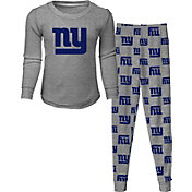 NFL Team Apparel Toddler's New York Giants Long Sleeve Sleep Set