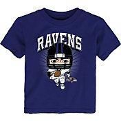 NFL Team Apparel Toddler Baltimore Ravens Purple Player T-Shirt