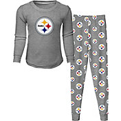 NFL Team Apparel Toddler's Pittsburgh Steelers Long Sleeve Sleep Set