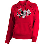 NFL Team Apparel Women's Kansas City Chiefs Script Red Hoodie