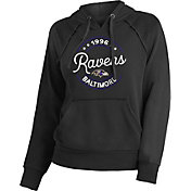 NFL Team Apparel Women's Baltimore Ravens Script Black Hoodie