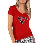 Concepts Sport Women's Houston Texans Script Red T-Shirt