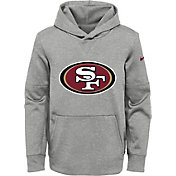 NFL Team Apparel Youth San Francisco 49ers Logo Grey Hoodie