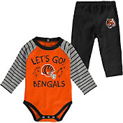 NFL Team Apparel Youth Cincinnati Bengals Long Sleeve Set