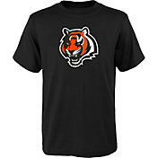 NFL Team Apparel Youth Cincinnati Bengals Black Team Logo T-Shirt