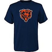 NFL Team Apparel Youth Chicago Bears Navy Team Logo T-Shirt