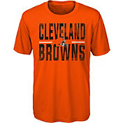 NFL Team Apparel Youth Cleveland Browns Orange Grand Central T-Shirt