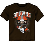 NFL Team Apparel Toddler Cleveland Browns Brown Player T-Shirt