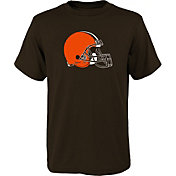 NFL Team Apparel Youth Cleveland Browns Brown Team Logo T-Shirt
