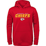 NFL Team Apparel Youth Kansas City Chiefs Static Red Pullover Hoodie