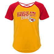 Outerstuff Youth Girls' Kansas City Chiefs Gold Criss-Cross Back T-Shirt