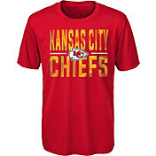 NFL Team Apparel Youth Kansas City Chiefs Red Grand Central T-Shirt