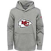Nike Youth Kansas City Chiefs Logo Essential Grey Hoodie